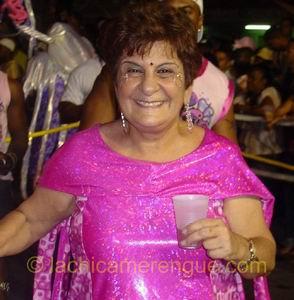 Emily de Jongh-Elhage, lijsttrekker van de PAR, tijdens het carnaval van 2005!