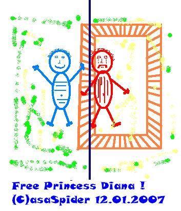 Diana bewijst dat vrijheid tussen de oren zit, zonder dat zij daar weet van heeft overigens.