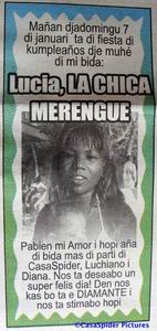 Lucia, La Chica Merengue, is jarig op zondag 7 januari 2007. Klik voor groter.