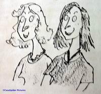 Wie van deze twee mevrouwen is de heks? Klik voor groter.