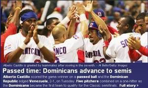 World Baseball Classic 2006, Dominicaanse Republiek verslaat Venezuela met 2-1 en bereikt halve finale!