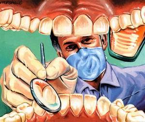 28.08.2007: CasaSpider onder het mes bij de tandarts, brr...