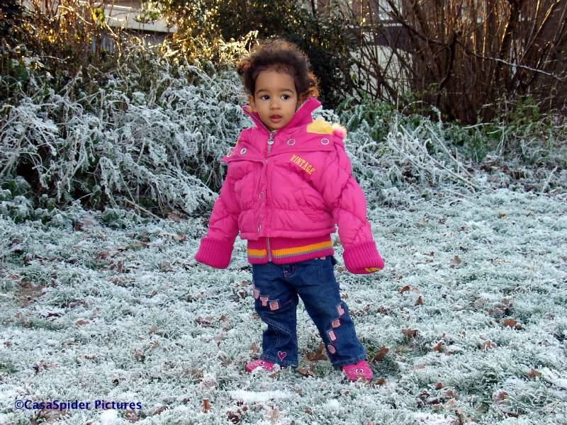 22.12.2007: Diana (1) begint al aan de sneeuw te wennen, handschoenen heeft ze niet nodig. Klik voor groter.
