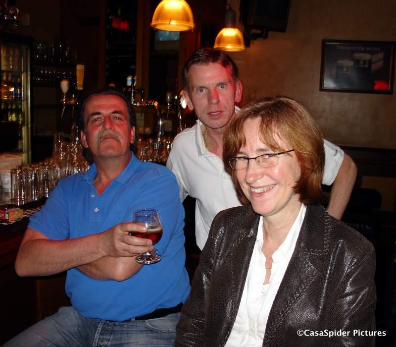 13.04.2007: Met Piet, Ronald en Jannie in King Arthur, Utrecht. Klik voor groter.