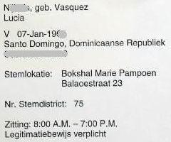 Stembiljetten Eilandsraadverkiezingen 20.04.2007 voor Lucy en CasaSpider zijn binnen. Klik voor groter.
