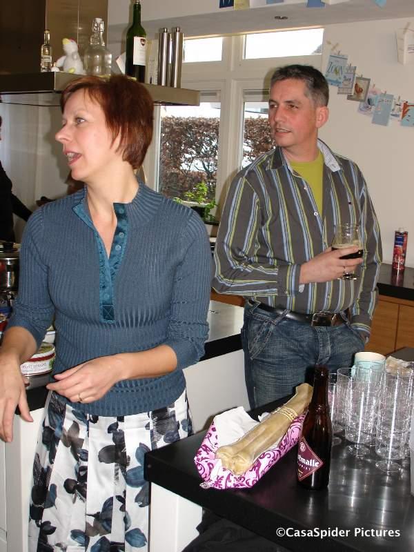 16.02.2008: Afscheid van Margriet en Wiro, zij vertrekken van Borkel naar Portugal. Klik voor groter.