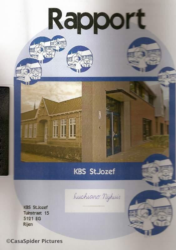 13.03.2008: Luchiano (10) ontvangt zijn eerste rapport in Nederland, van de KBS Sint Jozef te Rijen. Klik voor groter.