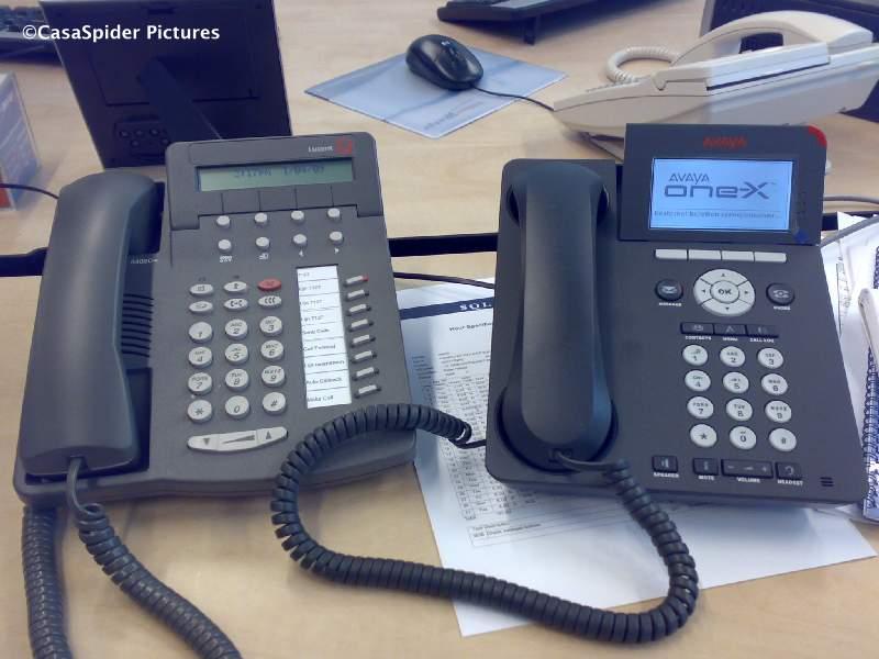 03.04.2009: We hebben al twee dagen een ip-telefoon van Avaya bij <br /> Brabant Water. Klik voor groter.