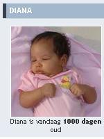 29.01.2009: Diana (2) is vandaag 1000 dagen oud. Klik voor groter.