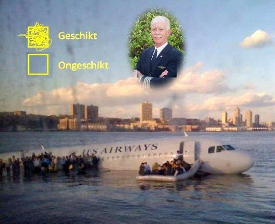 15.01.2009: Airbus maakt noodlanding vanwege ganzen in de Hudson. Klik voor groter.