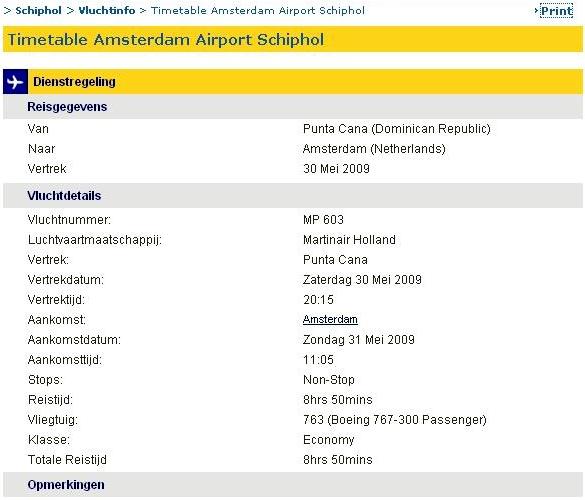 31.05.2009: Sugey zet vandaag voet op Nederlandse bodem. Bienvenido! Klik voor groter.
