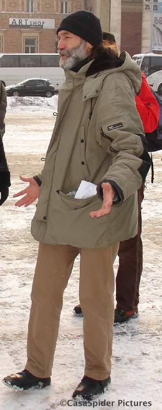 20.12.2009 (zondag): Onze supergids Tibor verzorgt de informatievoorziening op deskundige en humoristische wijze. Klik voor groter.