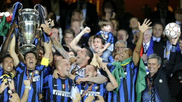 22.05.2010: Inter Milan (Internazionale) wint Champions League finale tegen Bayern Munchen met 2-0. Klik voor groter.