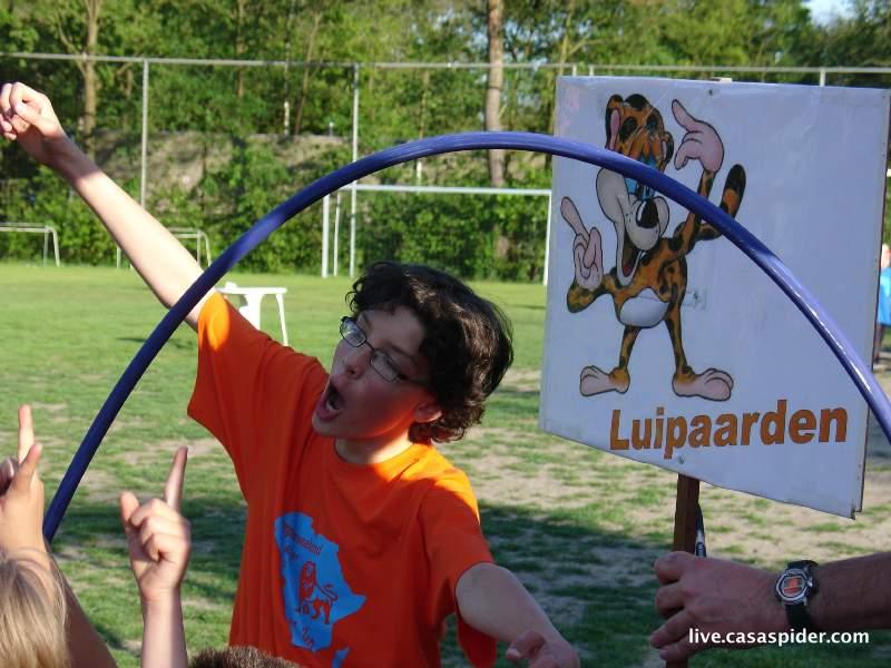 04.06.2010: Kampeerweekend vv Rijen, Jorg is een oranje, Nederlandse luipaard. Klik voor groter.