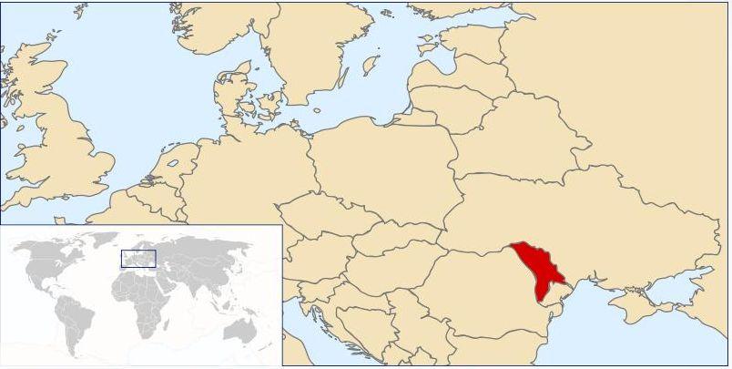 08.04.2010: Luchiano (12) heeft een topografie proefwerk over Europa, waar ligt Moldavie? Klik voor groter.