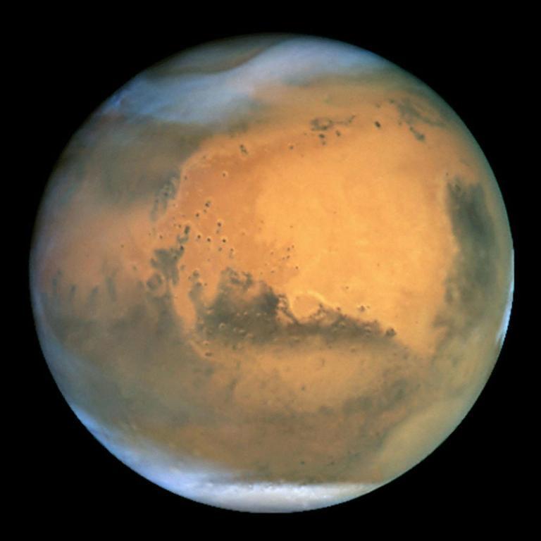 06.08.2011: Water ontdekt op Mars, Brabant Water verkozen het eerste pompstation te plaatsen. Klik voor groter.
