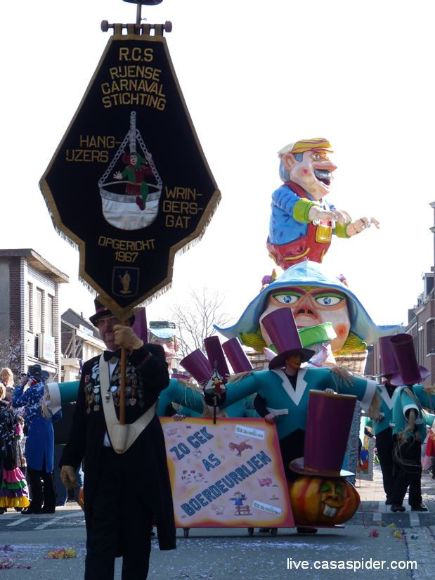 08.03.2011: De Rijense Carnaval Stichting RCS Hangijzers Wringersgat bestaat vandaag 44 jaar. Klik voor groter.