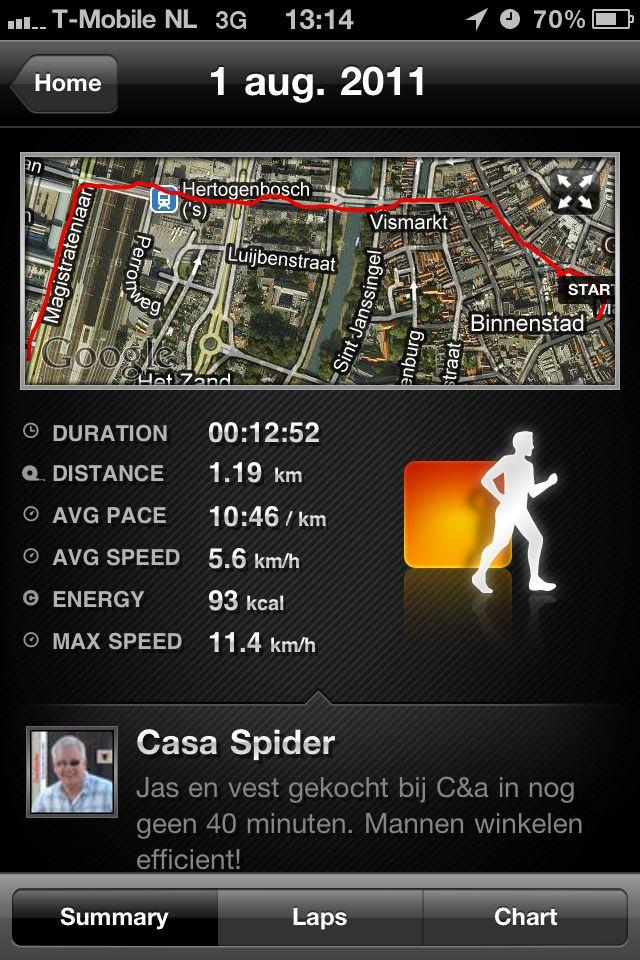 01.08.2011: CasaSpider koopt een jas en een vest bij C&A in Den Bosch binnen 40 minuten: Power Shopping! Klik voor groter.