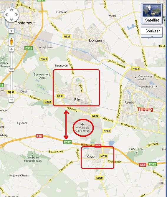 25.09.2011: Hoogste tijd dat Gilze-Rijen eens goed op de kaart wordt gezet! Klik voor groter.
