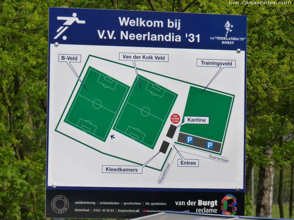 16.04.2011: Rijen C4 gaat op bezoek bij Neerlandia'31 C2 in Dorst, het wordt een afdroogpartij: 9-1. Klik voor groter.
