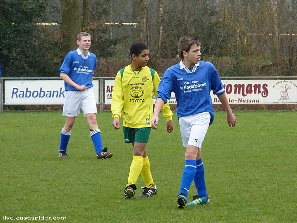 17.03.2012: Gloria UC C3 - Rijen C4 (3-3) Na Luchiano's goal in de 23e minuut weet de Gloria-verdediging wie ze in de gaten moeten houden. Klik voor groter.
