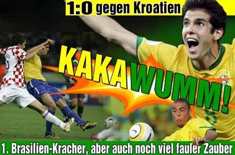 Brazilie verslaat verrassend stug Kroatie met 1-0 dankzij doelpunt van Kaka